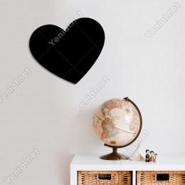 Büyük Geniş Kalp Şekli Duvar Oda Doğum Günü Süslemesi Ahşap Tablo 50x44cm