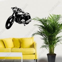 Eski Tip Tarz Motorsiklet Duvar Oda Ev Aksesuar Ahşap Tablo 50x43cm