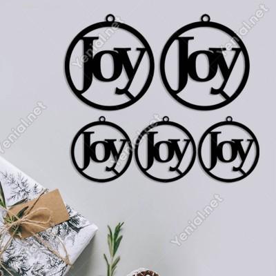 Estetik Şekilde Joy Yazısı Yılbaşı Yılbaşı Süslemeleri Mdf Kesim