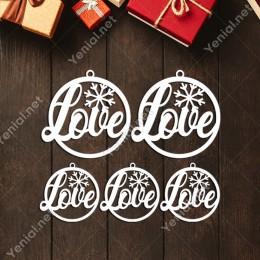 Estetik Şekilde Love Yazısı Yılbaşı Yılbaşı Süslemeleri Mdf Kesim