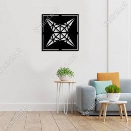 Geometrik Parçalı Geometrik Form Duvar Oda Ev Aksesuarı Ahşap Tablo 50x50cm