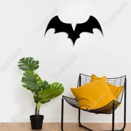 Kanatları Açık Yarasa Batman Duvar Oda Ev Aksesuarı Ahşap Tablo 50x26cm