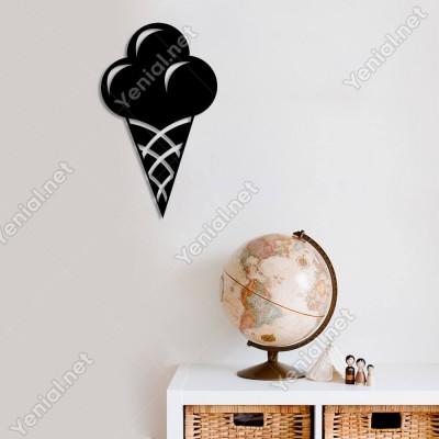 Külahta Dondurma Duvar Oda Ev Aksesuarı Ahşap Tablo 29x50cm