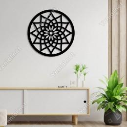 Oluşturulmuş Zarif Lotus Su Çiçeği Duvar Aksesuarı Ahşap Tablo 50x50cm