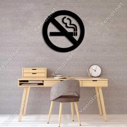 Sigara İçmek Yasaktır Duvar Oda Ev Aksesuarı Ahşap Tablo 50x49cm