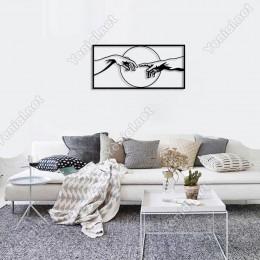 Tanrının Eli Duvar Tablosu Dekoratif Süsleme Ev Aksesuarı Ahşap Tablo 50x23cm