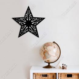 Yılbaşı Cam Süslemeleri Desenli Duvar Oda Ev Aksesuarı Ahşap Tablo 50x47cm