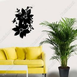 Yılbaşı Süslemesi Çiçek Duvar Oda Ev Aksesuarı Ahşap Tablo 34x50cm