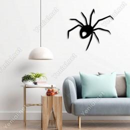 Yukarıya Doğru Giden Örümcek Duvar Oda Ev Aksesuarı Ahşap Tablo 50x45cm