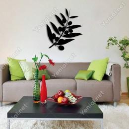 Zeytin Dalı ve Yaprakları Duvar Oda Ev Aksesuarı Ahşap Tablo 43x50cm
