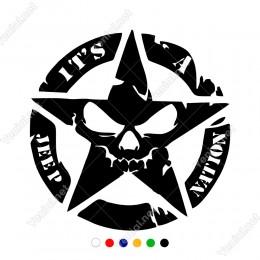 Off Road Army Askeri Yıldız Sağ Sol İçin Sticker Yapıştırma Araba Sticker, Oto Sticker, Araba Çıkartmaları, Jeep için Aksesuarlar, 4X4 Sticker, Laptop ve Duvar için