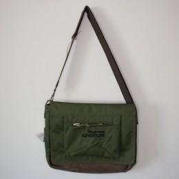 Old Cotton Cargo Ravvson Computer Bag Omuz Çantası Bilgisayar Çantası 8193 Haki Unisex Kadın ve Erkek için Omuz Çantası - Okul, Seyahat Çantası