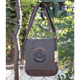Old Cotton Cargo Western S Bag Omuz Çantası 7112 Haki Unisex Kadın ve Erkek için Omuz Çantası - Okul, Seyahat Çantası