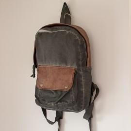 Street Bag Vintage  Taşlanmış Eskitme Sırt Çantası Gri