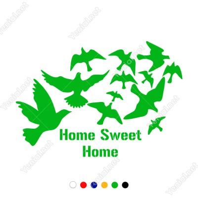 Home Sweet Home Duvar Yazısı Duvar Stickerı 60x40cm