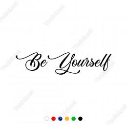 Be Yourself Yazısı Duvar Stickerı 60x13cm