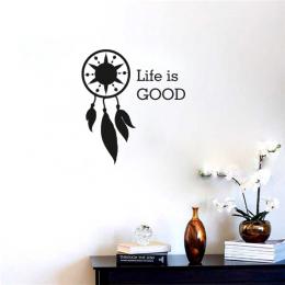 Life İs Good Duvar Yazısı Duvar Stickerı 60x54cm