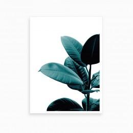 Duvar  İçin Resim Mavi ve Çiçek 35x25 cm