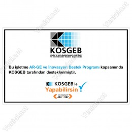 Kosgeb AR-GE ve İnovasyon Destek Programı Tabelası