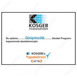 Kosgeb Destek Programı Girişimcilik Tabelası