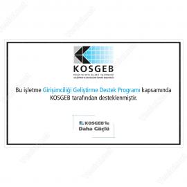 Kosgeb Girişimciliği Geliştirme Destek Programı Tabelası