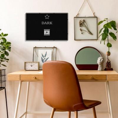 Benim Favori Dizim Dark Tasarım Metal Tablosu 50x32cm