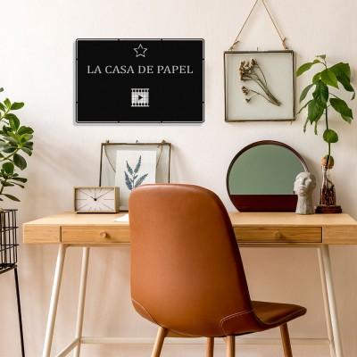 Benim Favori Dizim La Casa De Papel Tasarım Metal Tablosu 50x32cm