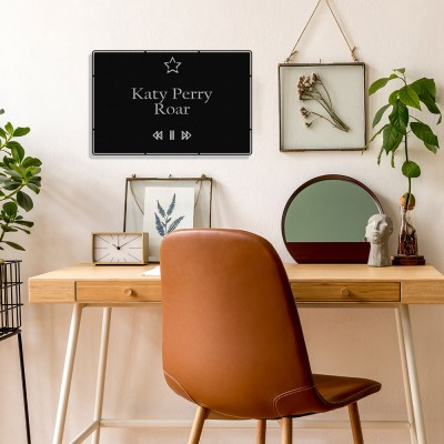 Benim Favori Şarkı Roar ve Şarkıcım Katy Perry Tasarım Metal Tablosu 50x32cm