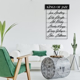 Çerçeve İçinde King Of The Jazz Tasarım Metal Tablosu 70x48cm