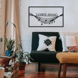 Çerçeve İçinde Lowe Song ve Sarkan Notalar Tasarım Metal Tablosu 70x40cm