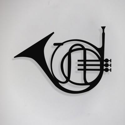 Saksafon ve Jazz Music Tasarım Metal Tablosu 65x44cm