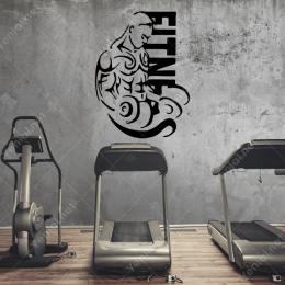 Fitnes Spor Salonu Sporcu Sticker