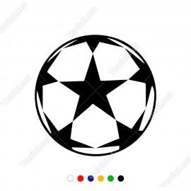 Altı Yıldızlı Şampiyonlar Ligi Topu Sticker
