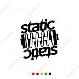 Araç ve Motor İçin Alt Alta Statik Yazısı Dişlileri Sticker