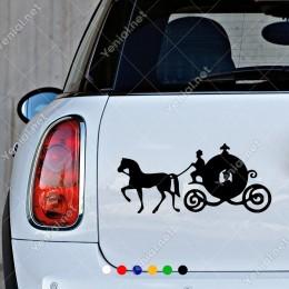 At ve Arabası İle Giden Yolcular Yapıştırma Sticker