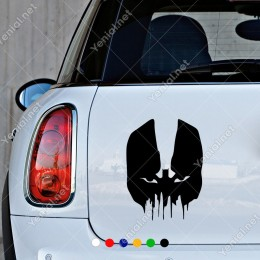 Batman Efektli Kuru Kafa Modifiye Araba Sticker