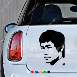 Bruce Lee Yan Görünümlü Portresi Sticker
