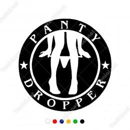 Çift Yıldızlı Oluşturulmuş Panty Dropper Yazısı Sticker