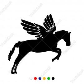 Dörtnala Uçan At Pegasus Sticker Yapıştırma