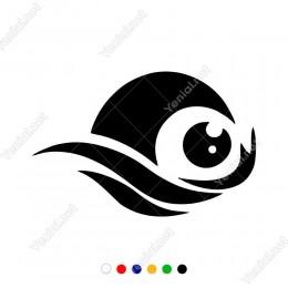 Efektli Parlak Göz Bebeği Etiket Sticker Yapıştırma