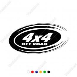 Efektli Yuvarlak İçinde 4x4 Ofroad Jeep İçin Sticker Yapıştırma