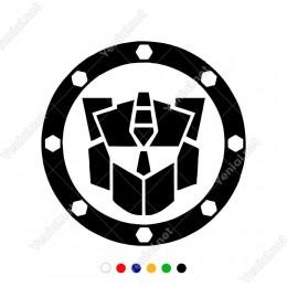 Etrafı Dekoratif Şekilde Oluşturulmuş Transformes Sticker