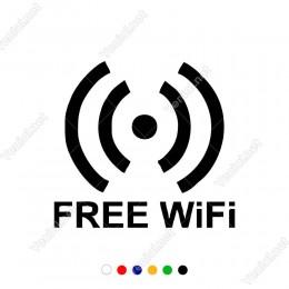 Free Wifi Yazısı ve İşareti Sticker Yapıştırma