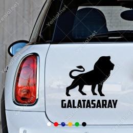 Galatasaray Aslan Yıldız Sticker Yapıştırması Araç ve Duvar İçin