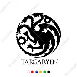 Game Of The Thrones Targaryen Sticker Yapıştırması