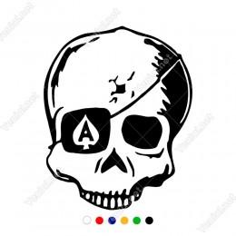 Gözü Bağlı Çatlak Kuru Kafa Sticker Yapıştırma