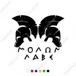 Greek Yunan Savaşçı Maskesi Etiket Sticker Yapıştırma