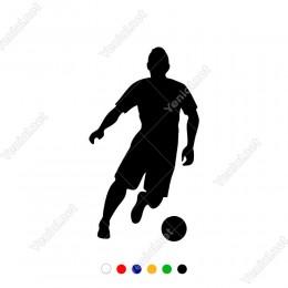 Hızlı Top Süren Futbolcu Sticker Yapıştırma