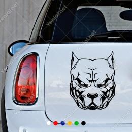 Kızgın Duran Bulldog Köpeği Etiket Sticker Yapıştırma
