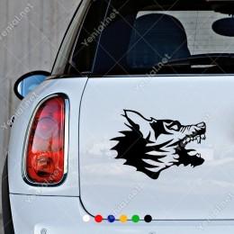 Kızgın Sert Havlayan Köpek Sticker Yapıştırması